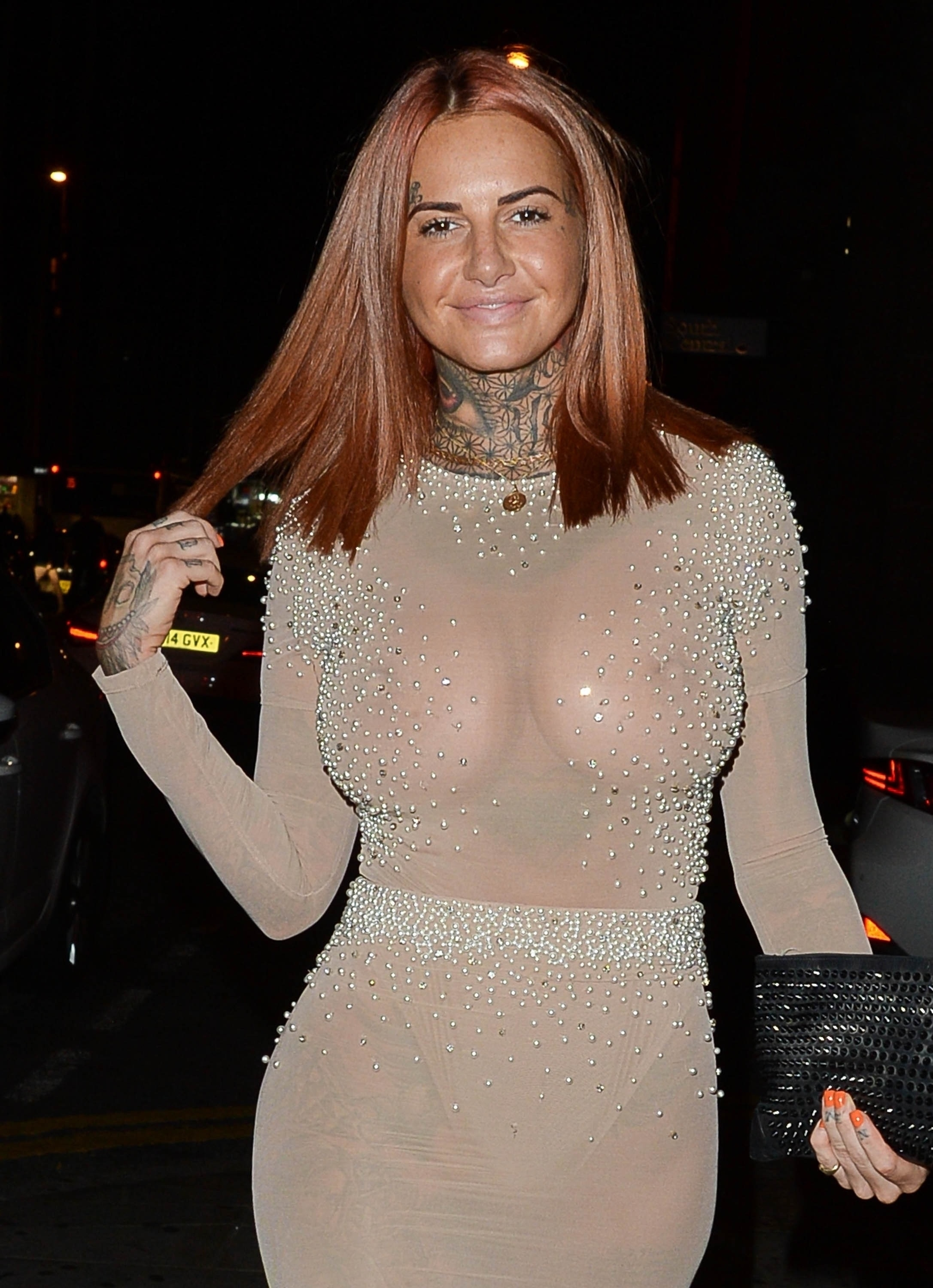 Big tits in see through top