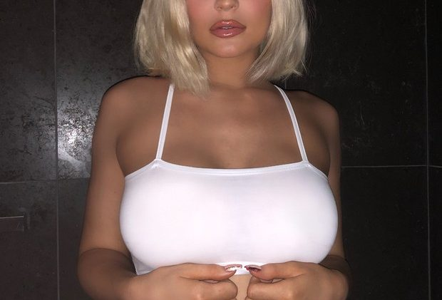 Kylie Jenner Shows Her Boobies in a Shockingly Tight Crop Top