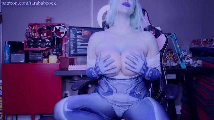 Tara Babcock Dresses as Cortana from Halo and Goes Topless