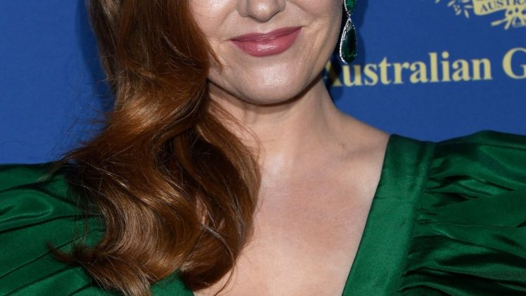 Redheaded Beauty Isla Fisher Stuns in a Cleavage-Baring Dress