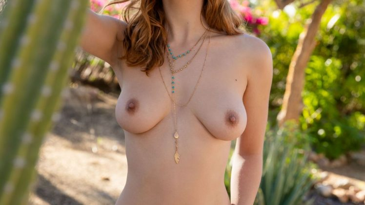 Perfect Redhead Kayla Coyote Strips Naked to Show Her Bush