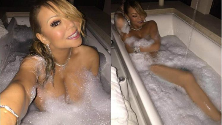 MILF Seductress Mariah Carey Flashing Her Big Butt and Large Breasts